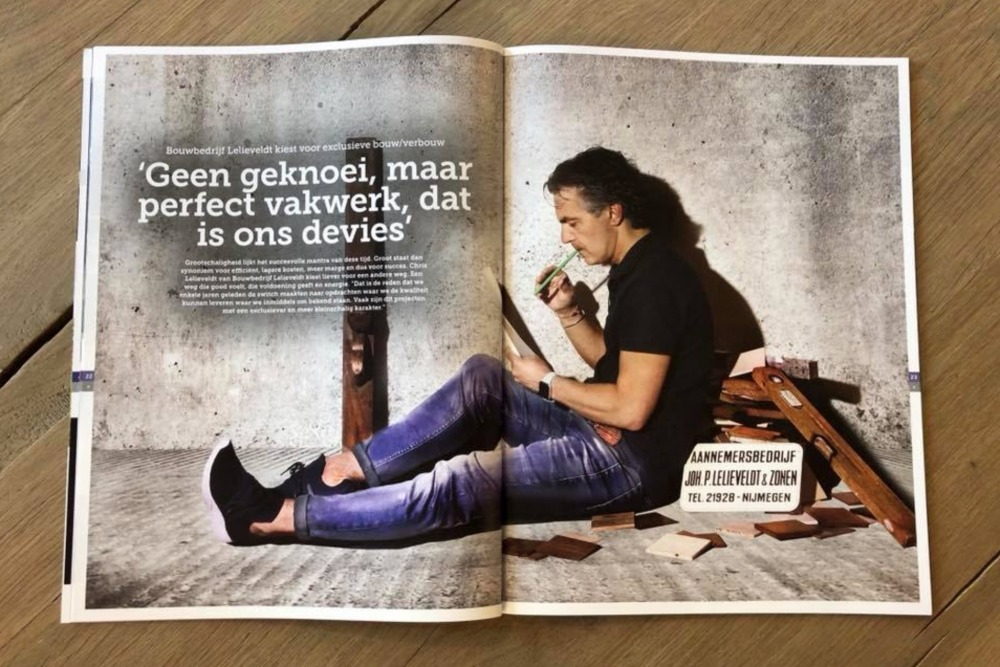 Aannemer Lelieveldt in Change magazine